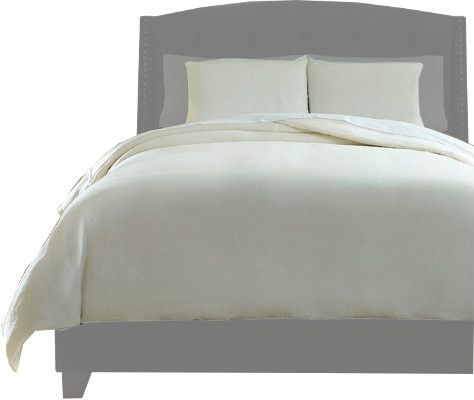 Ashley Q734013K Bergden Series King Duvet Cover Set, Available in Ivory, Dimensions 108.00