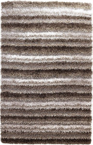 Ashley R099002 Wilkes Series Medium Rug, Gray Color, Shag Construction with multiple types of neutral yarns, Pile 100% Polyester, Use of a Rug Pad Recommended, Dry Clean Only, Dimensions 60.00