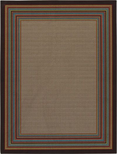Ashley R238002 Holden Series Medium Rug, Multi-Color, Machine Made Woven Contemporary Wave Patterned Design in Shades of Brown, Made in Olefin, Dry Cleaning Only, Use of Rug Pad Recommended for This Item, Dimensions 60.00