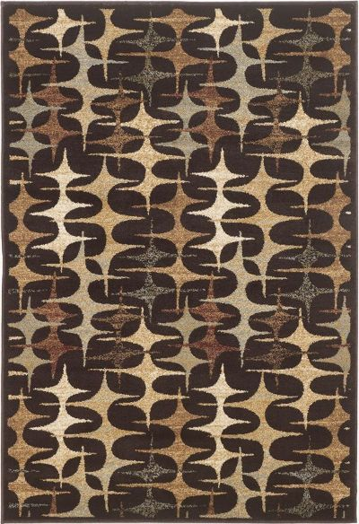 Ashley R241002 Stratus Series Medium Rug, Multi-Color, Machine-made Woven Rug, Contemporary style with repeating design in multiple colors, Made in 100% Polypropylene, Dry Clean Only, Use of Rug Pad Recommended for This Item, Dimensions 60.00