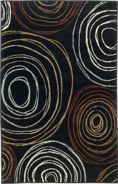 Ashley R275002 Suri Series Medium Rug, Multi-Color, Machine Made Woven Abstract Circle Design in Multicolors, Made in Polypropylene, Pile Height, Dry Clean Only, Use of Rug Pad is Recommended for This Item, Dimensions 52.00