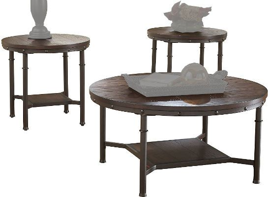 Ashley T277-13 Sandling Series Three-Piece Occasional Table Set ...