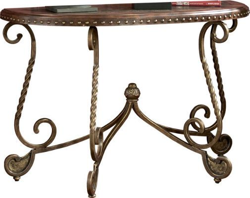 Marvelous Ashley T382 4 Rafferty Series Sofa Table Dark Brown Dark Home Interior And Landscaping Eliaenasavecom