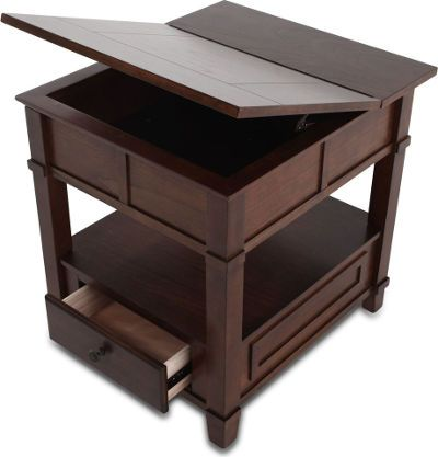 Ashley T Gately Collection Rectangular End Table Medium Brown - Ashley gately coffee table