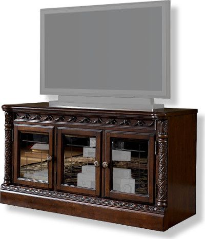 Ashley W553 31 North Shore Collection Medium Tv Stand Dark Brown