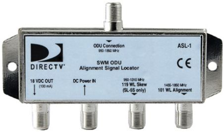 DirecTV ASL-1 SWM-ODU Alignment Signal Locator Tool, Designed for use aligning the SWM (Single Wire Multiswitch) SL5 and SL3 model of LNB's (ASL1 ASL 1)