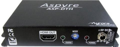 Aurora Multimedia ASP-DTH DVI & Audio to HDMI Converter, HDMI 1.2a compatible, Fully HDCP compliant, DVI video up to 165MHz, Coaxial S/PDIF audio input, Stereo analog audio input, Front panel LED indicators (ASPDTH ASP-DTH ASP DTH)