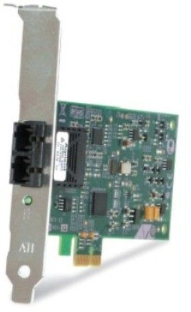 Allied Telesis AT-2711FXSC-901 Fast Ethernet Fiber Network Interface Card, PCIe (PCI-Express) x1 interface, IEEE 802.1x flow control, 72KB packet buffer, IEEE 802.1p-based traffic prioritization, TCP checksum RX/TX supported, PXE (2.1) remote boot support, Multi-mode SC fiber connector, Single pack, Federal and Government, UPC 767035181080 (AT2711FXSC901 AT-2711FXSC AT-2711FX AT 2711FXSC 901)