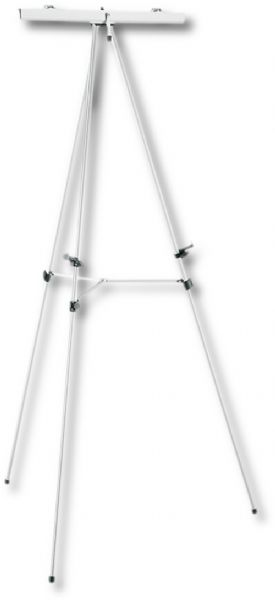 Heritage Arts ATA-3 Coronado Aluminum Display Easel With Flipchart Holder, Functions as a tabletop easel, Includes a flipchart holder, Adjustable height 34