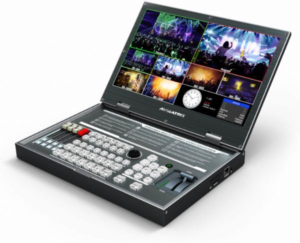 AVmatrix PVS0615 Portable All-In-One Design 6 Channel Multi-format Video Switcher with 15.6