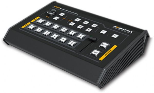 AVmatrix VS0601 Mini 6 Channel SDI/HDMI Multi-format Video Switcher; 6 channel input, 4xSDI and 2xHDMI inputs; 2xSDI & 1xHDMI PGM outputs, 1xSDI AUX output, 1xSDI and 1xHDMI Multiview outputs; T-Bar/ AUTO/ CUT transitions and MIX/ FADE/ WIPE effects; PiP mode, both size and position is adjustable; Dimension 6.78 W x 2.17 D x 9.81 L inches; Weight 2.2 Pounds (AVMATRIXVS0601 AVMATRIX/VS0601 VS-0601 VS06-01 VS-06-01)
