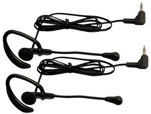 Midland AVP1 Accessory Earbud Speaker Mics, 2 over-the-ear microphone headsets with PTT Dual, for use with MDLG225 & MDLG227 models, Pin jacks for maximum strength, Flexible microphon; Comforatable Headset; Pair Packed; For use with G-225C2/G-227C2/G-300C2/G-300MC2 models, UPC 046014298712 (AVP-1 MDLAVP1)