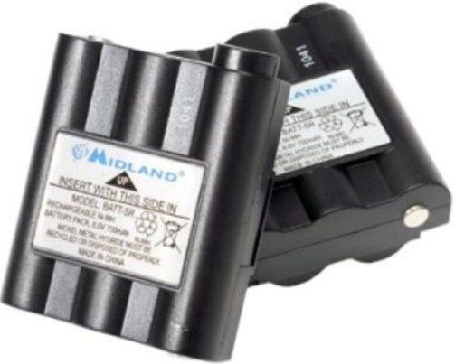Midland AVP7 Pair of Rechargeable NiMH Battery Packs (BATT5R) Kit, UPC 046014298781, For use with GXT1000, GXT1050, GXT1091, GXT300, GXT310, GXT325, GXT400, GXT444, GXT450, GXT500, GXT550, GXT555, GXT565, GXT600, GXT635, GXT650, GXT656, GXT661, GXT700, GXT710, GXT720, GXT735, GXT740, GXT745, GXT750 (AV-P7 AVP-7 AVP 7)