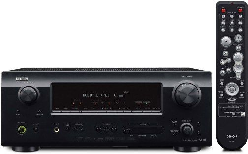 Denon AVR-589 Refurbished Audio/Video Surround Home Theater Receiver, 75 watts x 5 channels, HDMI v1.3a video switching with 2 inputs, 1 output up to 1080p, Dolby Digital, Dolby Pro Logic II, DTS, DTS Neo:6 decoding, Audyssey MultEQ in-room acoustic correction system, Audyssey Dynamic Volume automatic volume-leveling system (AVR589 AVR 589 AVR589-R)