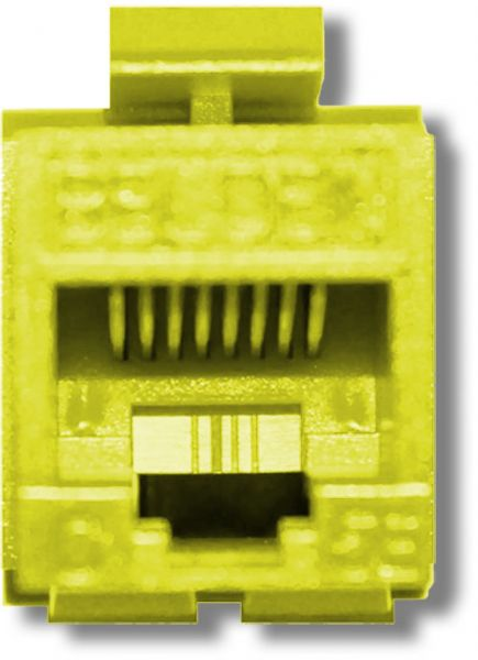 belden ax104184 cat5e modular jack, rj45 plug, keyconnect, utp, yellow