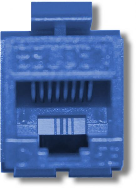 [EQHS_1162]  Belden AX104193 CAT6 Modular Jack, RJ45 Plug, Keyconnect, UTP, Blue;  T568A/B Wiring Scheme; 1000 V | Belden Cat 6 Jack Wiring |  | SaleStores.com