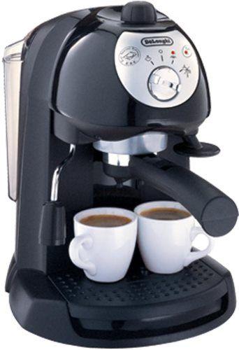 DeLonghi BAR32 Pump Espresso & Cappuccino Machine, Black; 1100W Input power; Use convenient pods ...