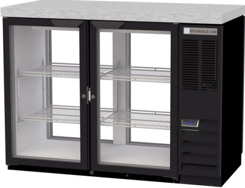 Beverage Air BB48HC-1-FG-PT-B-27 Refrigerated Pass-Thru Back Bar Open Food Rated Refrigerator - 2