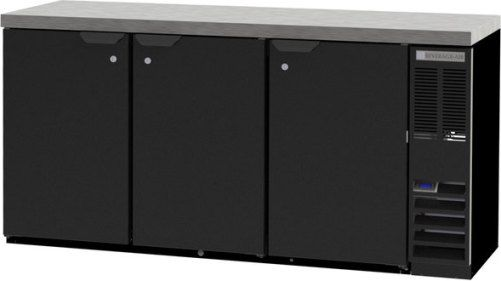 Beverage Air BB72HC-1-F-B-27 Back Bar Refrigerator with Black Exterior - 72