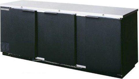 Beverage Air BB94-1-B Back Bar Storage Cabinet, Black, 39.2 Cu.Ft (1110 Liters) Capacity, Galvanized Steel Interior Walls and Ceiling, 6 Removable Wire Shelves, Stainless Steel Floor and Reinforced Door Breakers, 3 Self-Closing Solid Doors with Locks (BB941B BB941-B BB94-1B BB94-1 BB941 BB94)
