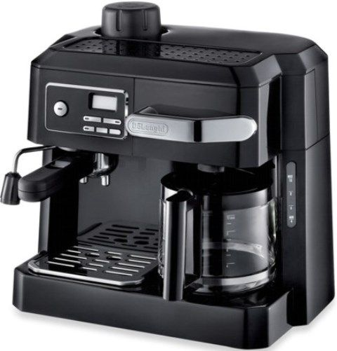 DeLonghi BCO320T Combnation 3-in-1 Machine, 1500-watt Power, 10-cup drip coffee carafe and ...