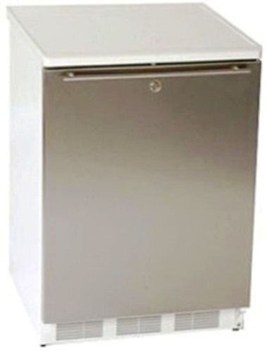 Summit BI540LSSHH Under Counter Built In Refrigerator Freezer 24 Inch Wide