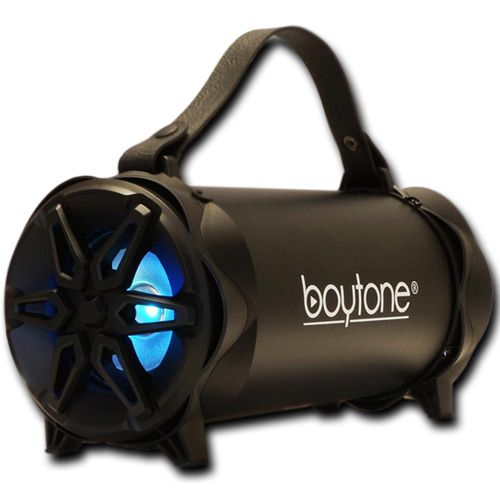 Boytone BT-42BK Portable Bluetooth Indoor, Outdoor 2.1 Hi-Fi Cylinder Loud Speaker With Built-In 4