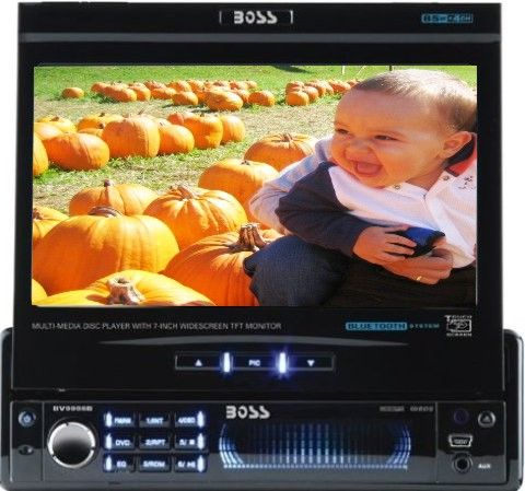 Boss Audio BV9998B Car Dvd Player, DVD-R, CD-RW Media Formats, CD Text Support Features, Secure Digital (SD) Memory Card Supported, LCD Screen Type, 7