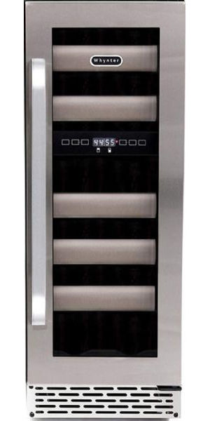 Whynter BWR-171DS Elite 17 Bottle Seamless Stainless Steel Door Dual Zone Built-in Wine Refrigerator, 41 F Minimum Temperature, 17 Bottle Capacity, 1 Number of Doors, 5 Number of Shelves, 2 Number of Temperature Zones, 12