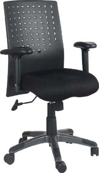ergonomic desk chair adjustable seat height and back rest allowing a custom ergonomic fit adjustable armrests standard black plastic and fabrics black fabric plastic mesh ergonomic office