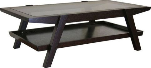 Whole Interiors C138 Wenge Breiter Dark Brown Wood And Gl Modern Coffee Table Contemporary Frame Veneer