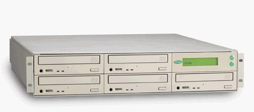 ZipSpin C452RM CD Tracer Rackmount, Standalone, Four 52X Writers, 1 Reader, 2U (C452-RM, C-452RM, C-452-RM, C452)