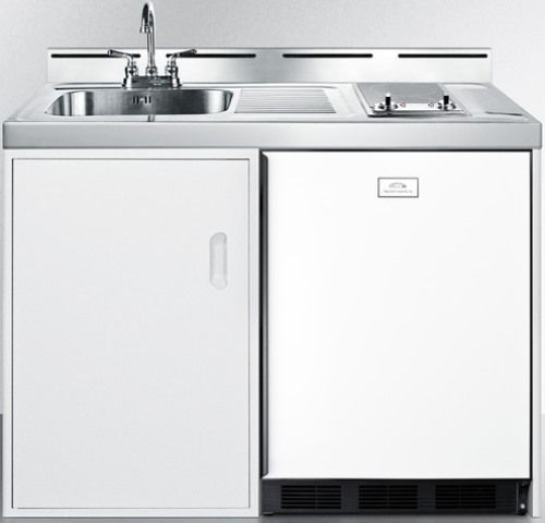 "Kitchenette Sink Cabinet: Summit C48ELGLASS Wide 48"" All-In-One Kitchenette With"