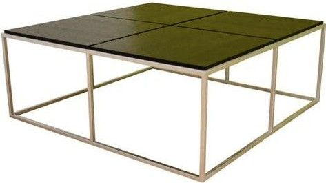 fine black square coffee table in dark inside decor