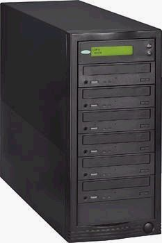Condre C552-BLK CD Duplicator, CD Tracer Tower, Standalone, Five 52X Writers, Black (C552BLK, C552-BLK, C-552-BLK, C552)