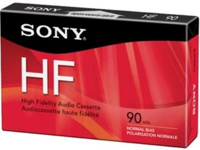 Sony C90HFR Hi Fidelity Type I Audio Cassette, 90 min storage capacity, Normal Bias Type, UPC 027242431317 (C90-HFR C90 HFR)