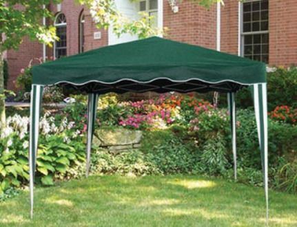 outdoor decor ca900g easy pop up gazebo lightweight steel frame that sets up in minutes 100 rugged colorfast polyester fabric self supporting without