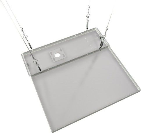 Crimson CAS2W Suspended Ceiling Adapter with Side Adjustment, 60lb - 27kg Weight capacity, High-grade cold rolled steel Construction, Scratch resistant fused epoxy finish Product finish, Fits flush inside standard ceiling grid system, Replaces 2'x2' ceiling tile or half of 2'x4' ceiling tile, Includes suspension wire, four turnbuckles, and anchors to suspend from wood or concrete structures, UPC 815885011771 (CAS2W CAS-2W CAS 2W)