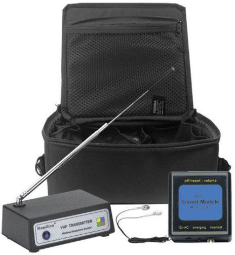 Hamilton Electronics CB/6/W2040-EB-B Six-User EarAID VHF Wireless Listening Center, Blue, Connect a tape deck, CD player, MP3 player, or other audio device to the wireless VHF transmitter, Up to 300' wireless range for excellent mobility, Frequency 72.500 MHz (CB6W2040EBB CB/6/W2040-EB CB/6/W2040 CB6W2040 CB6-W2040-EB-B CB6W2040-EBB)
