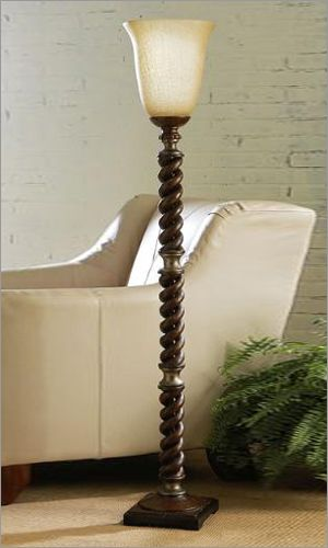 CBK Styles 10062 Torchiere Floor Lamp with Candlestick Stem ...