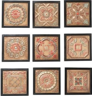 CBK Styles 10164 Wall Decor AS 9 Antique Ceiling Tile Motifs Nine Design,  Iron Wall Tiles, ...