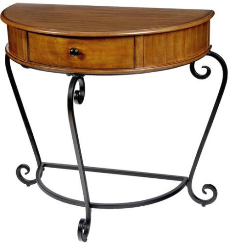 Small Half Moon Table For Hall cbk styles 10989 hall table ea 1, light pecan stain wood finish