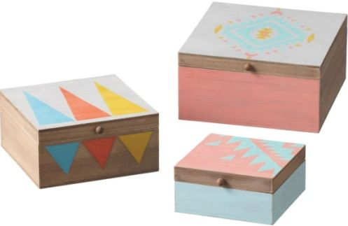 CBK Style 113212 Tribal Nested Boxes, Set of 3, UPC 738449331286 (113212 CBK113212 CBK-113212 CBK 113212)