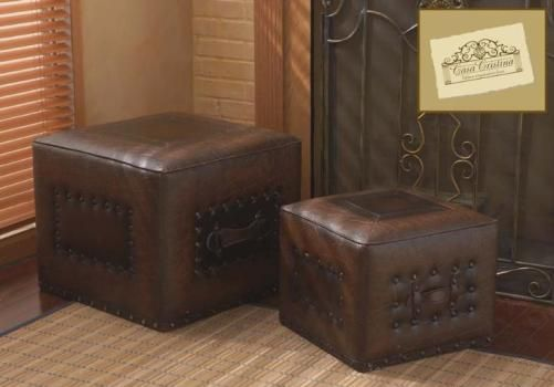 CBK Styles 36958 Casa Cristina Collection Set of Two Ottoman with