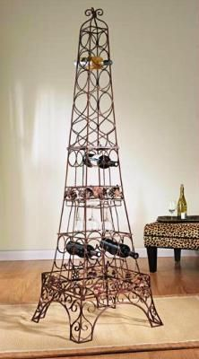 Charmant CBK Styles 43523 Wine Rack Eiffel Tower Design, Glass Holders, Brown Rust  Finish, Holds 20 Bottles, ...