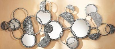 CBK Styles 43918 Mirror Wall Decor, Circle And Half Circle Accents ...