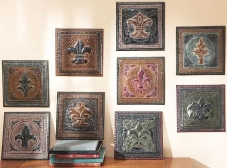 CBK Styles 44130 Wall Decor Fleur De Lis Design, 9 Different Designs, Heavy  Embossed
