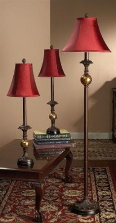 CBK Styles 54911 Set of 3 Assorted Sizes Buffet Style Lamps (2 ...