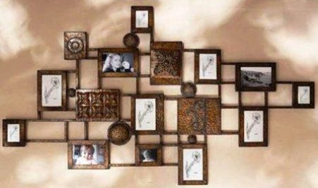 CBK Styles 73796 Wall Grill Decorative with Photo Frames, Antique ...