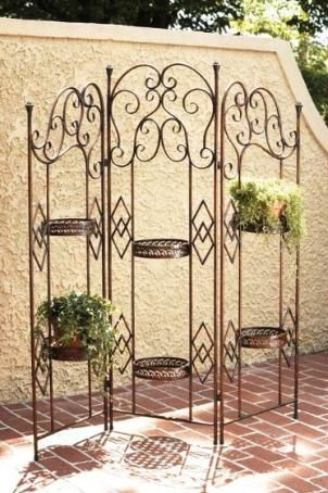 CBK Styles 74364 Plant Holder With 3 Panel Folding Screen Design, Antique  Bronze Finish, Holds (2) 6 Inch Diameter Pots And (4) 8 Inch Diameter Pots,  ...